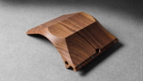 04 yohann product YP1WA ipad pro stand with apple pencil holder large size walnut wood angled bottom view 8